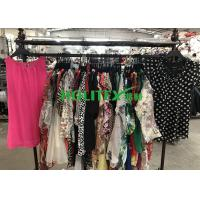 Buy cheap Fashionable Used Womens Clothing South Korean Style Mixed Color Silk Blouse from wholesalers