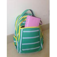 Buy cheap OEM ODM Green White Polyester Striped High School Backpacks with Laptop Pocket from wholesalers