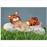 Buy cheap tiger Baby Photography Prop Crochet Hats  Animal Hat Cap animal beanie set costume from wholesalers