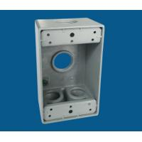 Buy cheap 1 Gang Waterproof Electrical Box / Exterior Outlet Box With 4 Outlet Holes from wholesalers