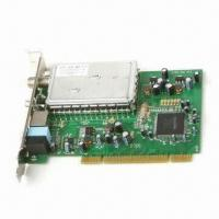 Wholesale ATSC and NTSC TV Tuner Card with PCI 2.2 Slot Interface, Receives Analog and Digital TV Signals from china suppliers