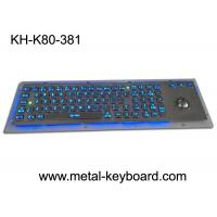 Buy cheap Rugged Backlit Metal Keyboard with Ergonomics Design Trackbal , USB interface from wholesalers