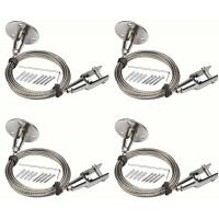 Buy cheap 4Pcs 2mm X 6.5 Feet Wire Rope Stainless Steel With Protective Plastic Jacket Assembly from wholesalers