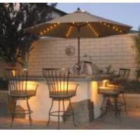 Solar LED Garden Umbrella Manufactures