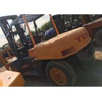 Buy cheap TCM FD100 Japan Used Forklift 10 Tons Yellow Color With Pneumatic Tire Type from wholesalers