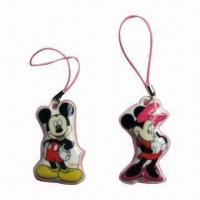 Buy cheap Beautiful/Popular/Lovely Mobile Phone Novelties with Strap, Pendant and Flash Sticker from wholesalers