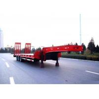 China Low Bed Semi Trailer Truck 3 Axles 80 Tons 17m for Loading Construction Machine on sale