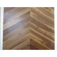 Wholesale American walnut Chervon parquet flooring, Chervon walnut wooden floors, special 45 angle from china suppliers
