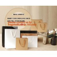 Buy cheap OEM/ODM Production Branded Luxury Design Printing Brown Craft Custom Kraft Paper Shopping Bag, Personalized Gift Bags wh from wholesalers