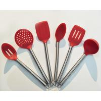 Buy cheap High quality FDA approval Silicone and Stainless Steel Kit of Serving Tong Spoon Spatula ladle tools from wholesalers