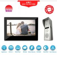 Buy cheap Morningtech wire peephole color video door phone/video door bell/ intercom system support exit button from wholesalers