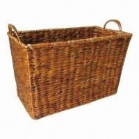 Buy cheap Water Hyacinth Storage Basket, Can Store Fruits, Vegetables, Wine from wholesalers