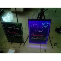 Buy cheap 580x420mm hanging led writing board with engraved border from wholesalers