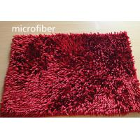 Buy cheap Microfiber Mat Red 40 * 60cm Big Chenille Bathroom Indoor Anti - skid Rubber product