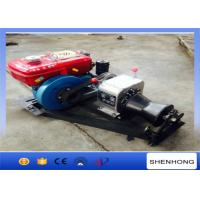 China Small Cable Pulling Wire Rope Winch / Engine Powered Winch 5HP Rated load on sale
