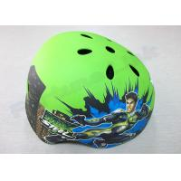 Buy cheap Toddler / Youth / Kids Inline Skating Helmets 5 Air Vents , Green Mountain Biking Helmets from wholesalers
