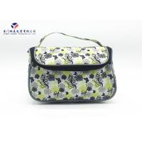 Buy cheap Toiletries Product Fabric Makeup Bag Black With Oxford Cloth Lining Materials from wholesalers