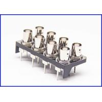 Buy cheap 8 coaxial BNC connector PCB RF connector straight 50 ohm zinc alloy from wholesalers