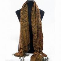 Wholesale Scarf of 180g Weight, Made of 100% Polyester, Available in Various Designs from china suppliers