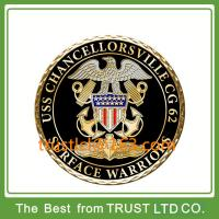Buy cheap Custom challenge coin, metal coin with plating gold, coin with diamond border from wholesalers