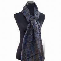 Wholesale Scarf, Available in Various Designs, Made of 100% Polyester, 180g Weight from china suppliers