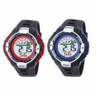 Buy cheap Gent's Multifunction 30M Water-resistant Sports Wrist Watches, 3-color Cold Light from wholesalers