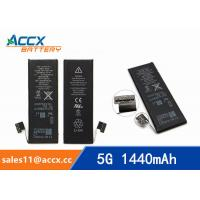 Wholesale ACCX brand new high quality li-polymer internal mobile phone battery for IPhone 5G with high capacity of 1440mAh 3.7V from china suppliers