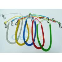 Wholesale Retractable Long Coiled Fishing Tool Lanyard , Fall Protection Fishing Rod Leash from china suppliers