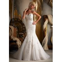 2013 Fashion White/Ivory Mermaid Lace Sweetheart Wedding Dresses Online Manufactures