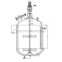 China 3000L Stainless steel reactors in pharmaceutical industry , msgl reactor on sale