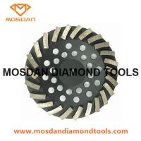 Buy cheap 7 Inch Metal Turbo Concrete Diamond Grinding Cup Wheel for Hand Grinder from wholesalers