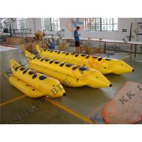 Buy cheap Advertising Inflatable Banana Boat For Sale / 0.9mm Pvc Tarpaulin / OEM Color from wholesalers