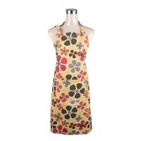 Fashionable and Recycle Flower Printed Retro Ladies Cook Aprons / Cotton Bib Aprons Manufactures