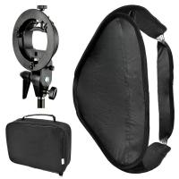 Buy cheap Bowens Mount Foldable Softbox with S-Type Flash Bracket for Photo Studio Flash Speedlite from wholesalers