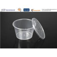 Buy cheap Disposable plastic storage food containers with lids , round small PP Food Boxes from wholesalers
