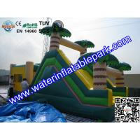 Buy cheap Inflatable Bouncer Slide , Commercial Grade Bounce Houses Coconut Trees Tropical Themed from wholesalers