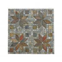 Buy cheap Yellow Wooden-vein Mosaic For Bathroom Floor Stone Sell With Cheaper Price from wholesalers
