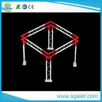 Buy cheap High Performance Aluminum Truss Display Customized Length Black / Gold Color from wholesalers