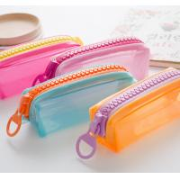 Buy cheap Candy Color PVC Pencil Bag Pouch Cases / Bags With Logo Printing OEM from wholesalers