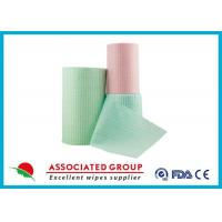 Green Spunlace Nonwoven Fabric / non woven cloth 100% biodegradable Manufactures