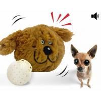 Buy cheap Interactive Plush Dog Squeaky Toy Electronic Motion Ball Nontoxic Plush ABS Material from wholesalers