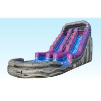 Buy cheap 19Ft Purple Inflatable Water Slides Summer Splash With Logo Printing from wholesalers
