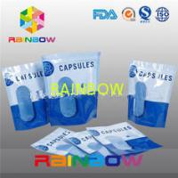 Buy cheap Stand Up Vertival Aluminium Foil Pouches Clear Window For Capsules from wholesalers