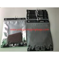 Buy cheap Custom Printed  Laminated Zip Plastic Poly Bag With Hanger For Garment / Underwear from wholesalers