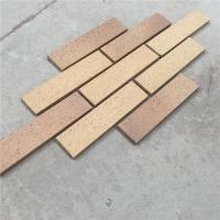 Exterior Wall Decoration Clay Split Face Brick HM36413-7 With Rough Face Manufactures