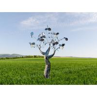 Buy cheap Silver Stainless Steel Tree Sculpture Wonderful City Art Decoration Statue from wholesalers