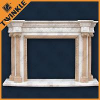 Buy cheap Hand-Carved Polished Stone Fireplace Mantel of Natural Stone Column from wholesalers