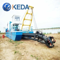 Buy cheap Diesel Engine Draft 1.3m Sand Dredger River Sand Mining machine from wholesalers