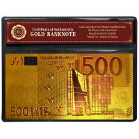 Buy cheap Gold Foil And PET Euro 500 Banknote Collecting Album For Souvenir Gift from wholesalers