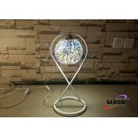 Buy cheap Maso 3D Fantastic Effect Glass Chrome Cover Metal Material Lamp Body E27 Screw Lamp Base Table Lamp For Bedroom Study from wholesalers